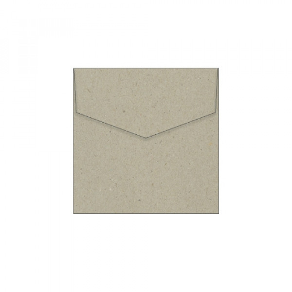 Eco Brown Recycled Envelopes 105mm square (Box of ...