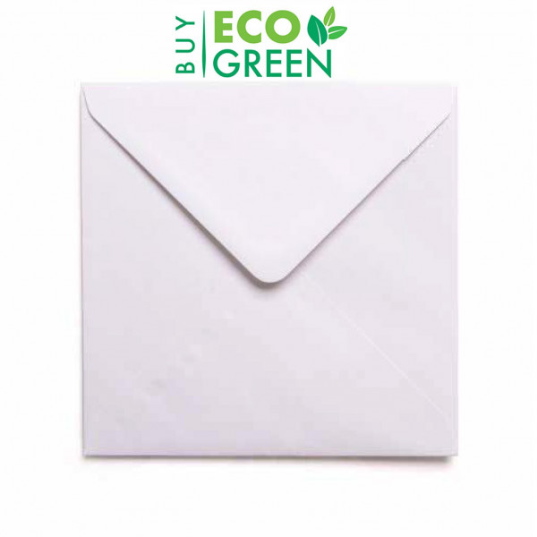 Eco White 152 x 152mm Square Envelopes (Box of 500...