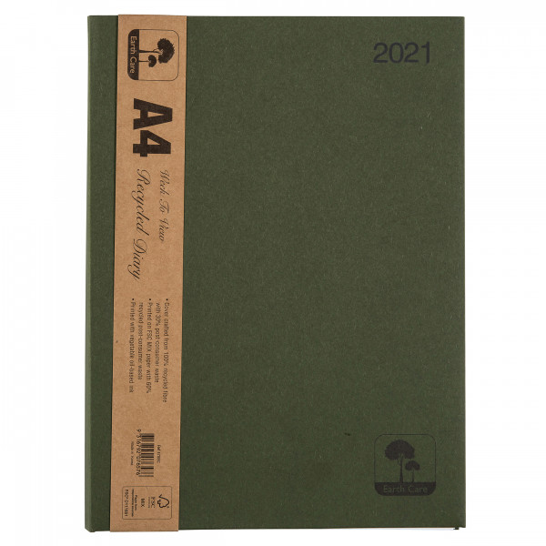 Earthcare Recycled A4 Diary (Week to a View)  ***P...