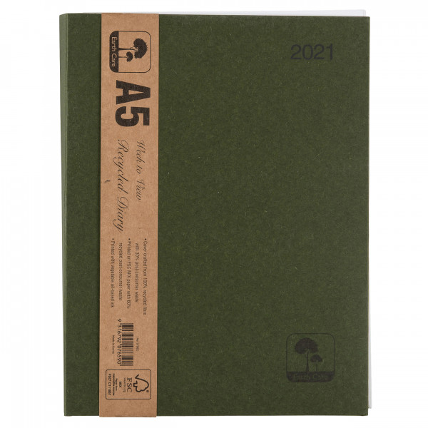 Earthcare Recycled A5 Diary (Week to a View)
