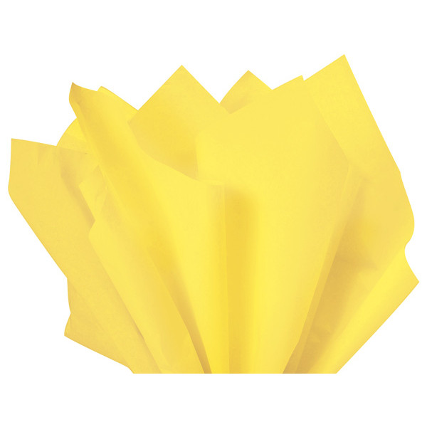 Recycled Tissue Paper - Light Yellow 100% Recycled