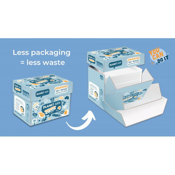 Unwrapped planet Ark Paper 100%  Recycled, A4 - Box of 500 sheets