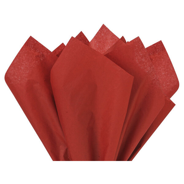 Recycled Tissue Paper - Scarlet 100% Recycled ( Pk of 24 sheets )
