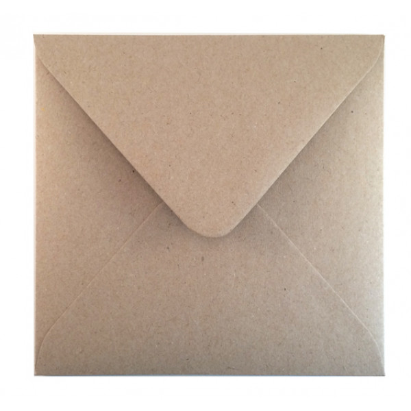 Eco Brown Recycled Envelopes 152mm X 152mm (Box of 500)