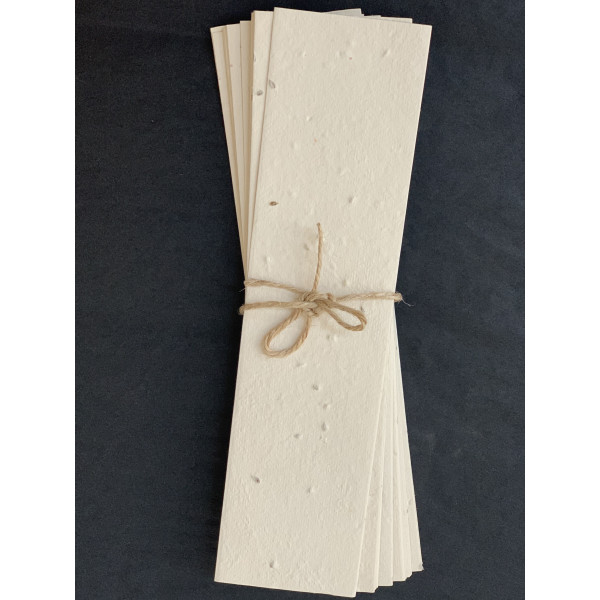 Plantable Seeded Paper Bookmarks (Pack of 10)