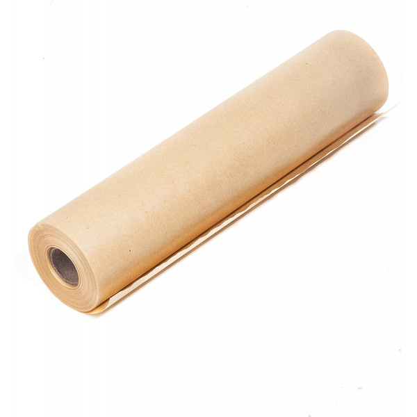 Recycled Brown Kraft Wrapping Paper Roll 80gsm, 600mm wide, 50m long