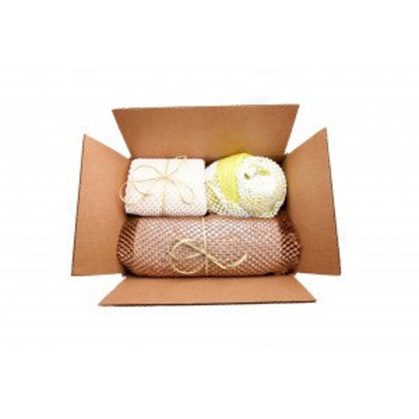 GreenWrap ExBox - Paper Packaging ( white on white )