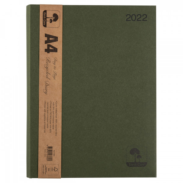 Earthcare Recycled A4 Diary (Day To A Page)