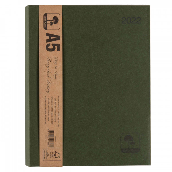 Earthcare Recycled A5 Diary (Day To A Page)