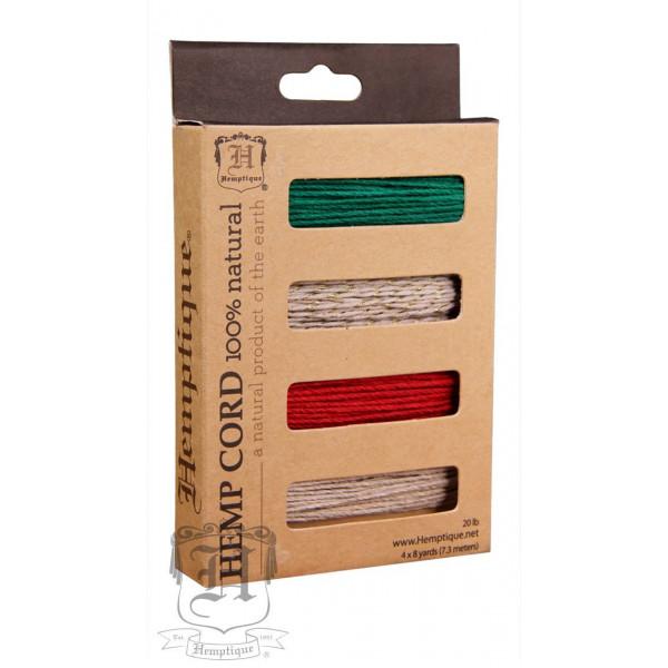 Hemp Cord - 4 Color Card Box - Christmas Eve