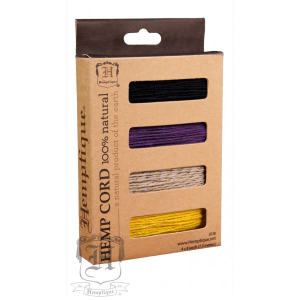 Hemp Cord - 4 Color Card Box - Monsoon
