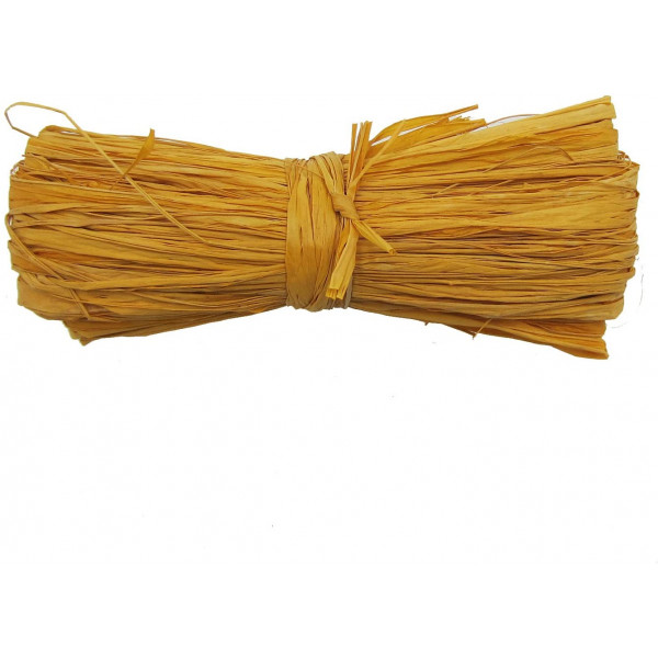 Raffia - Coloured 250gm (Yellow)
