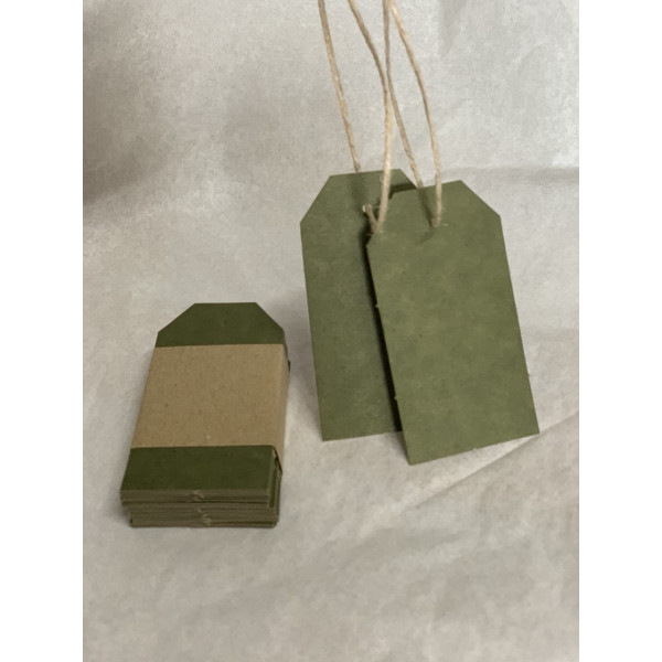 Recycled Swing Tags 48mm x 93mm (pack of 40). Colo...
