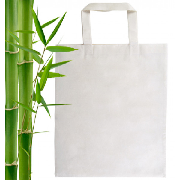 Bamboo Bag with short handles
