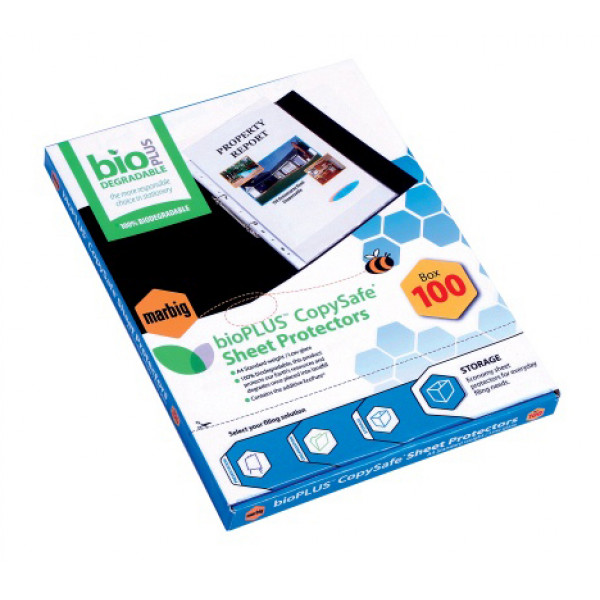 Biodegradable Sheet Protectors for A4 (box of 100)
