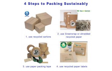 4 simple Steps to sustainable packing