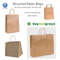 New to the Store - Recycled Paper Bags with paper handles