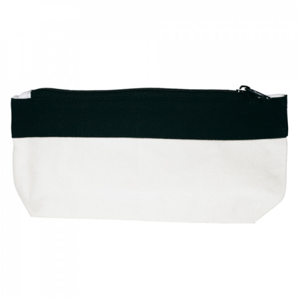 Canvas Pencil Case or Organiser (Black Trim)