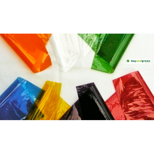 Coloured Cellophane Sheets (Pack of 25, assorted c...