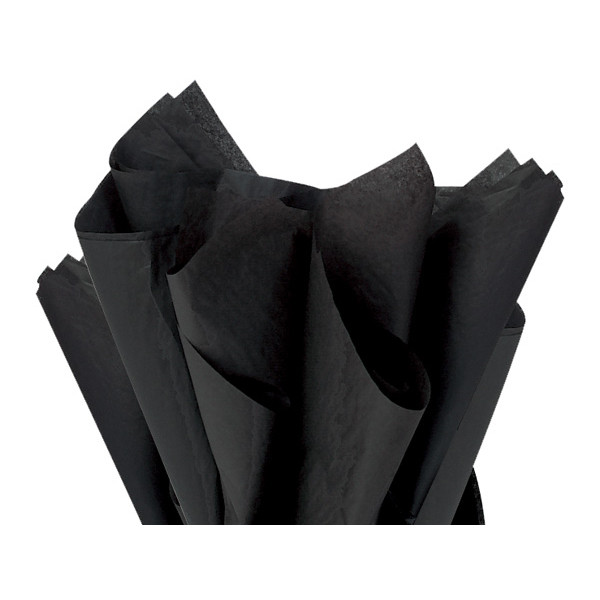 Recycled Tissue Paper - Deep Black 100% Recycled ( Pk of 24 sheets )