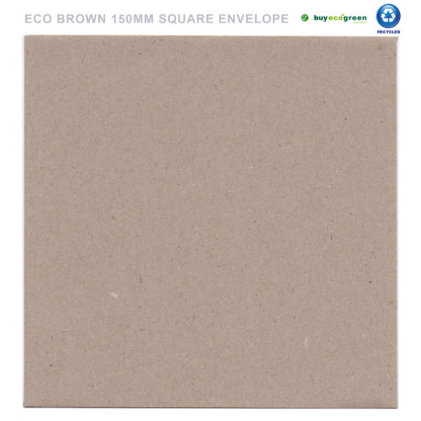 Eco Brown Recycled Envelopes 150mm x 150mm (Pack of 50)