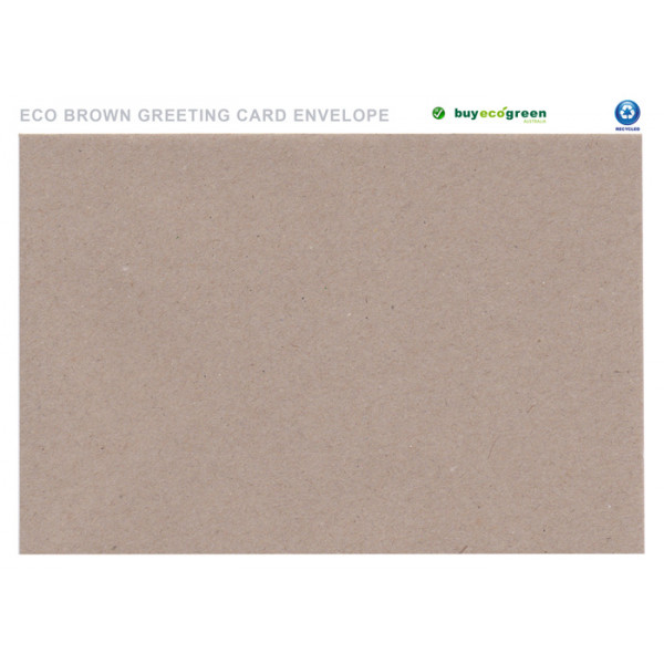 Eco Brown Recycled Greeting Card Envelopes 130 X 185mm Pack Of 50