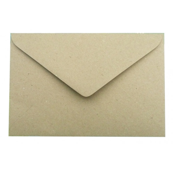 Eco Brown Recycled greeting card Envelopes 130 x 1...
