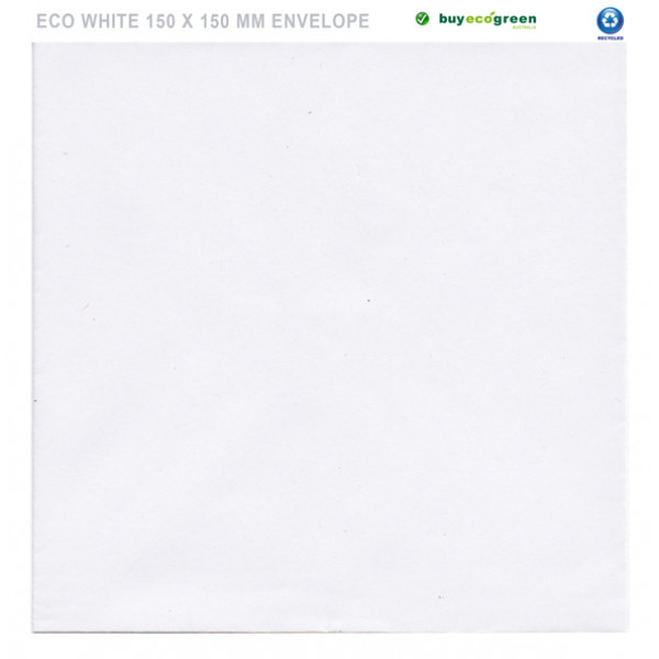 Eco White 150 x 150mm Square Envelopes (Pack of 50...