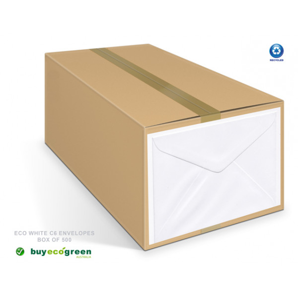 Eco White C6 Envelopes Box (500)