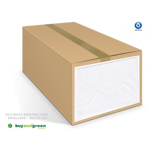 Eco White Greeting Card Envelopes Box (500)