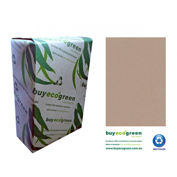 Eco-Brown A3 Brown Paper 100% Recycled 110 gsm (Box of 3 Reams)