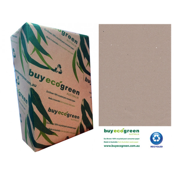 Eco Brown A4 110gsm 100% recycled paper (Box of 4 ...