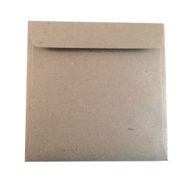 Eco Brown Recycled Envelopes 130mm x 130mm (Pack o...
