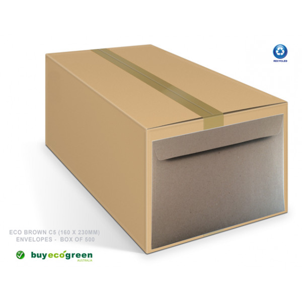 Eco Brown C5 Recycled Envelopes Box of 450