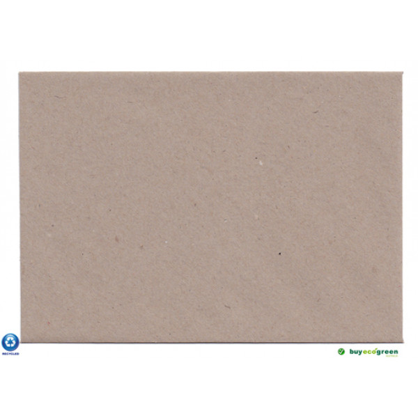 Eco Brown C6 Recycled Envelopes. (Pack of 50)