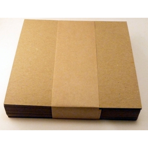 Eco Brown 230gsm Duplex Recycled Card 140 x 140mm flat (Pack of 100)