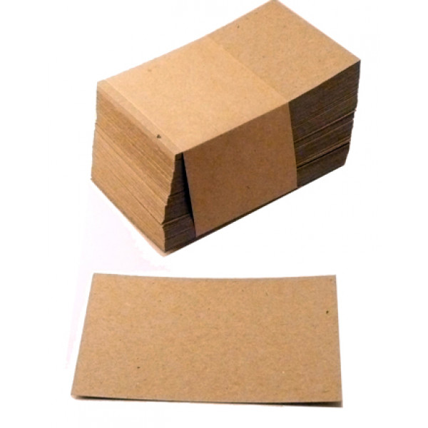 Eco Brown 230gsm Duplex Recycled Business Cards 55mm x 90mm (pack of 100)