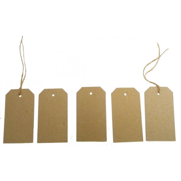 Recycled Swing Tags - Eco Brown 230gsm Duplex Swin...