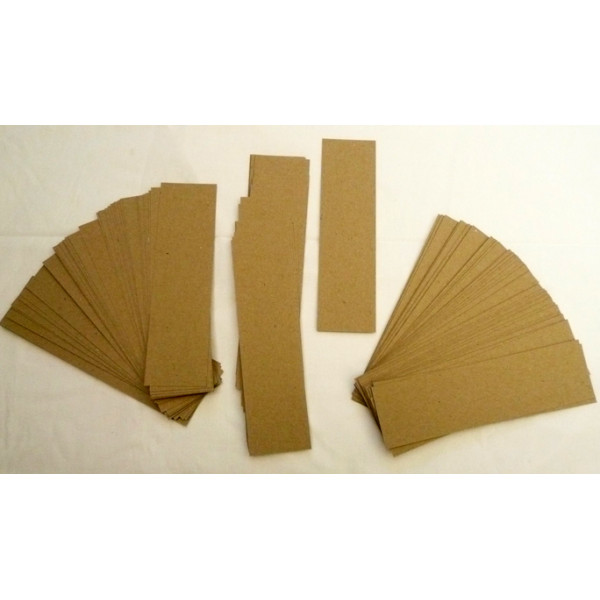 Eco Brown 230gsm Duplex Recycled Bookmarks 55mm x 200mm (pack of 100)