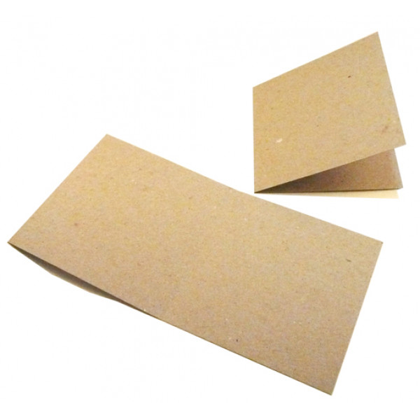 Eco Brown Recycled Square Card for folding to 120m...