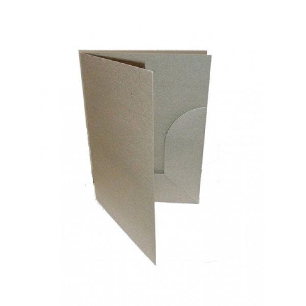 Recycled Presentation Folders A5 - Eco Brown (Pack...