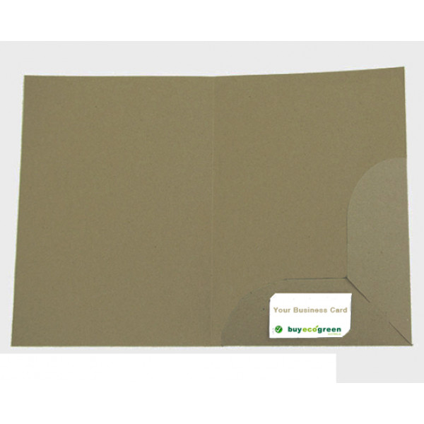 Recycled presentation folders a4 eco brown pack of 10 reheart Gallery