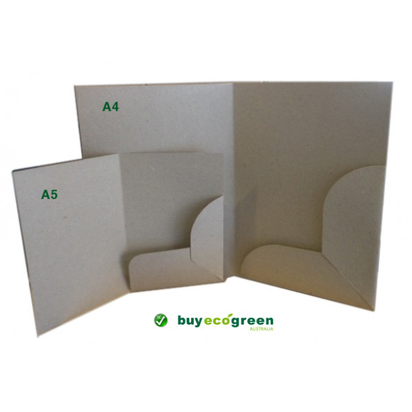 Recycled Presentation Folders A5 - Eco Brown (Pack of 10)