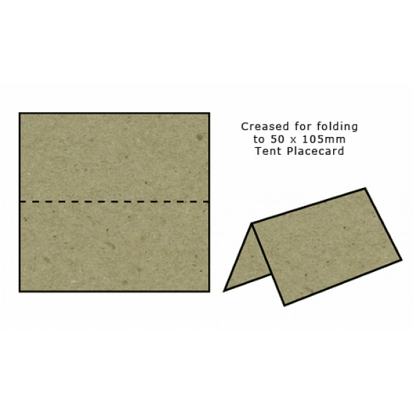 Eco Brown Recycled Tent Place Cards (pack of 20)
