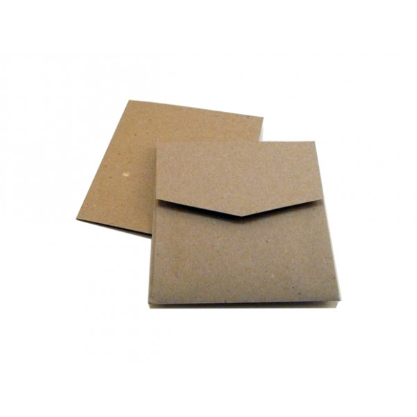 Eco Brown Recycled Square Card for folding to 120mm x 120mm (Pack of 50)