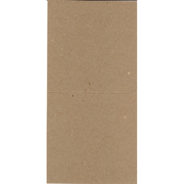 Eco Brown 230gsm Duplex recycled card 140mm x 280mm creased for folding to 140mm x 140mm (Pack of 50)