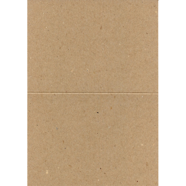 Eco Brown 230gsm Duplex recycled card 148mm x 210mm creased for folding to A6 148mm x 105mm (Pack of 50)