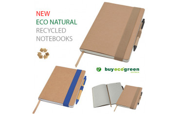 New to the Store - Eco Natural Recycled Notebooks