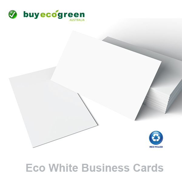 Eco White Recycled 300gsm Business Cards (pack of 100)