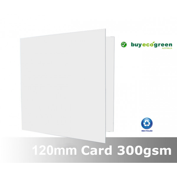 Eco White 300gsm card folded size 120 x 120mm (Pac...